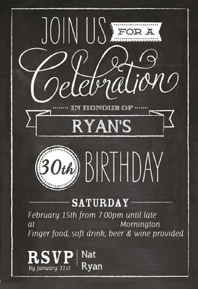 Surprise Birthday Invitation Wording For Husband