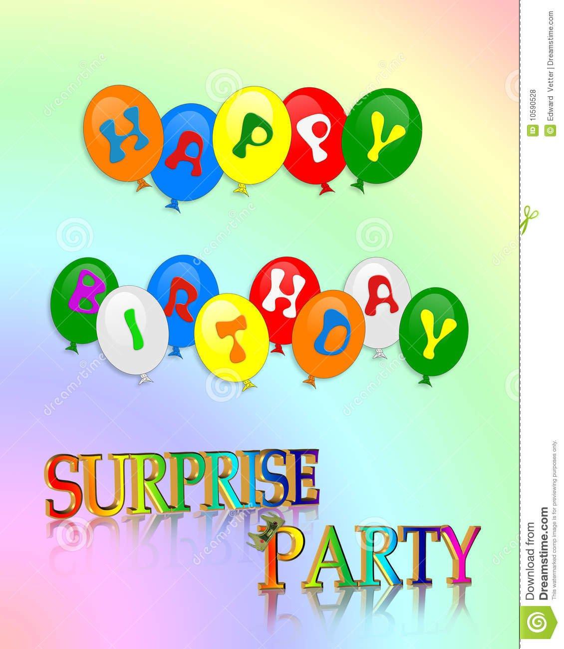 Surprise Birthday Party Invitations Printable