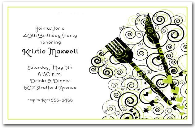 Surprise Dinner Invitations Printable