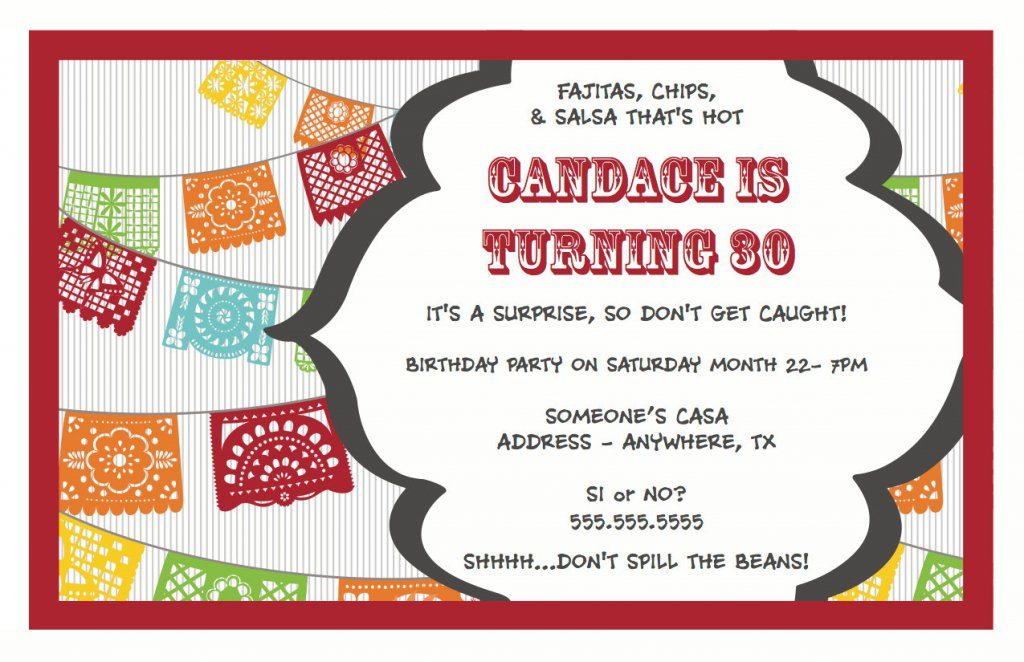 Surprise Party Invitation Templates