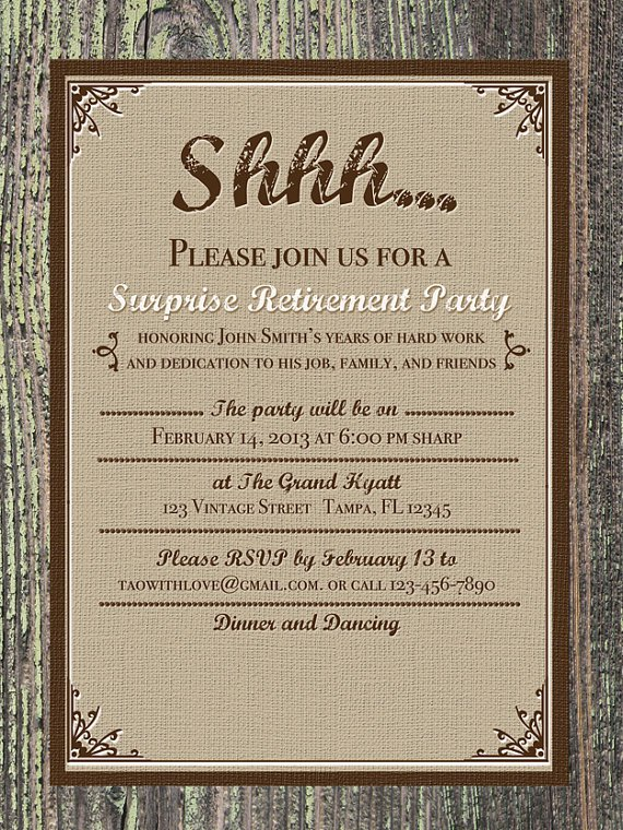 Retirement Invitation Templates