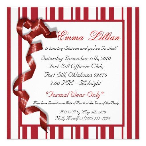Sweet 15 Invitations Free Printable