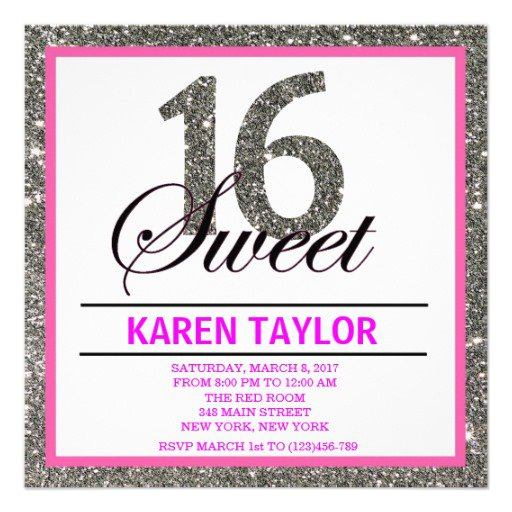 Sweet 15 Invitations Wording