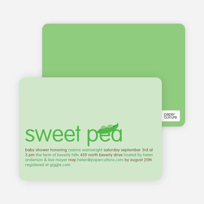 Sweet Pea Baby Shower Invitations