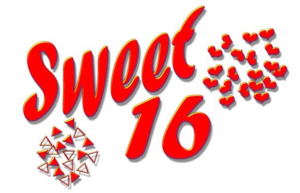Sweet Sixteen Clip Art Backgrounds