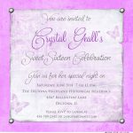 Sweet Sixteen Invitation Wording Ideas