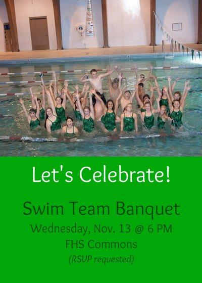 Swim Banquet Invitation
