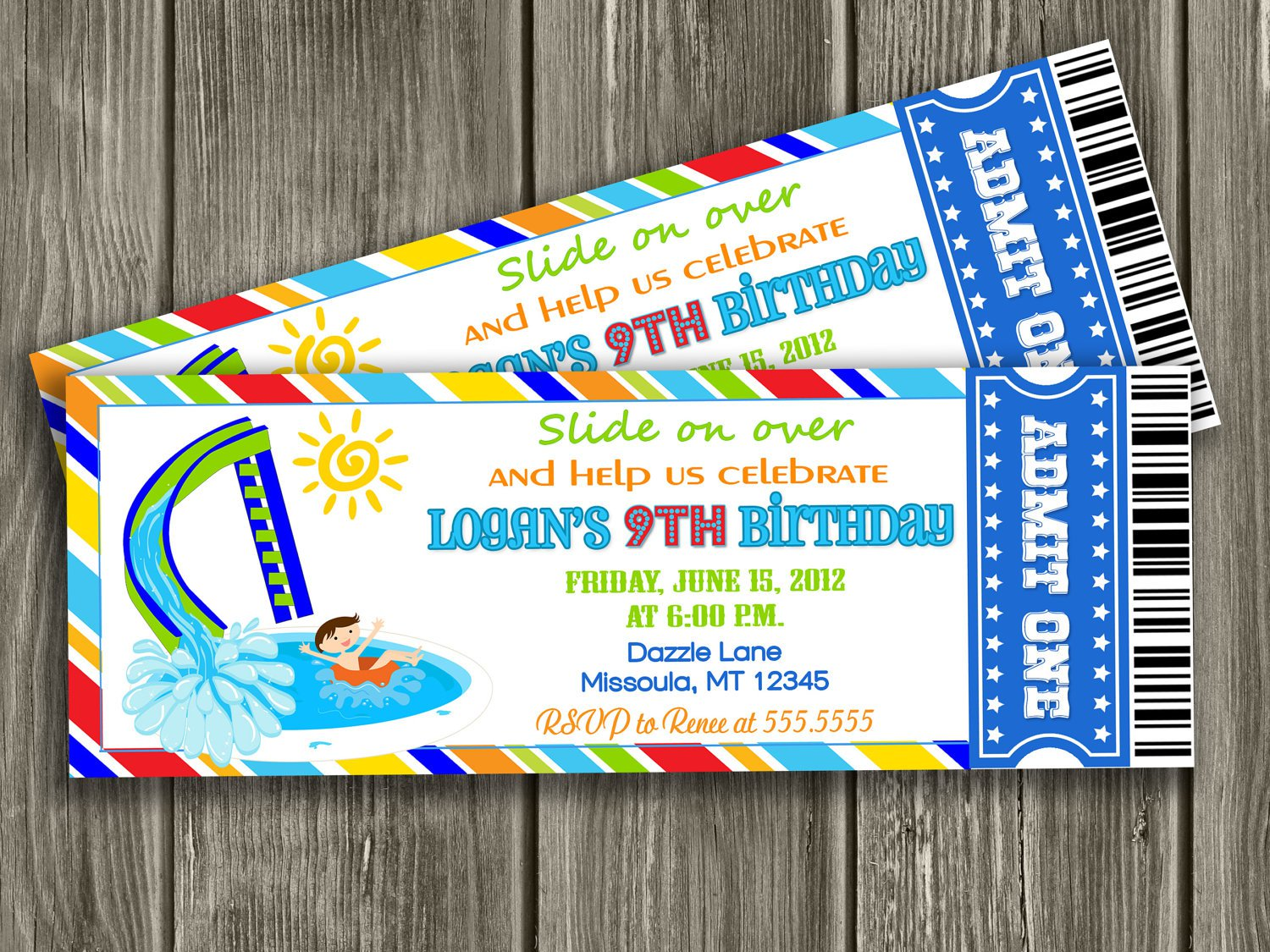 Swimming Party Invitations Printable Free