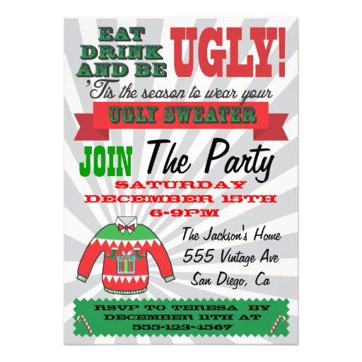 Tacky Sweater Party Invitations Online