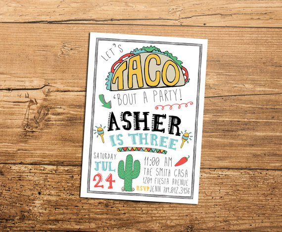 Taco Truck Party Invitations