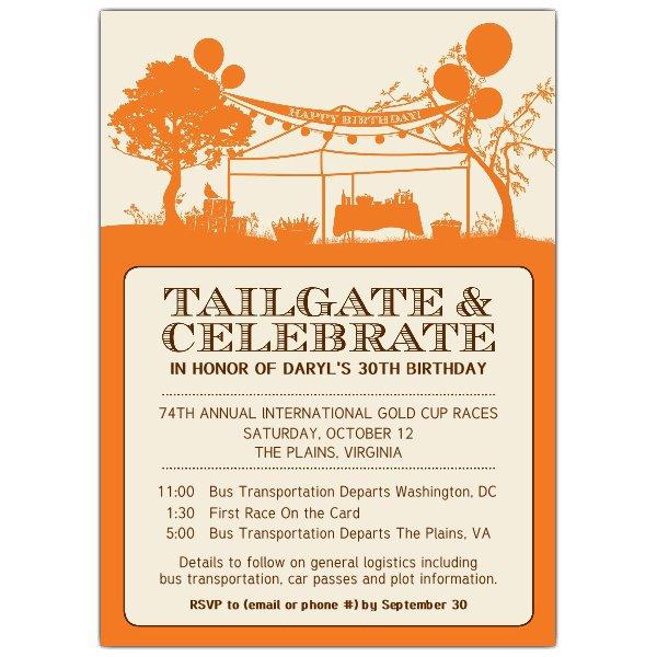 Tailgate Invitation Wording