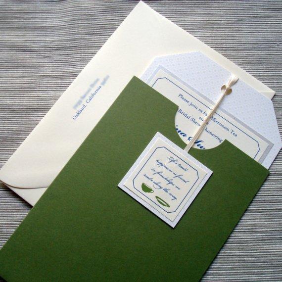 Tea Bag Bridal Shower Invitations
