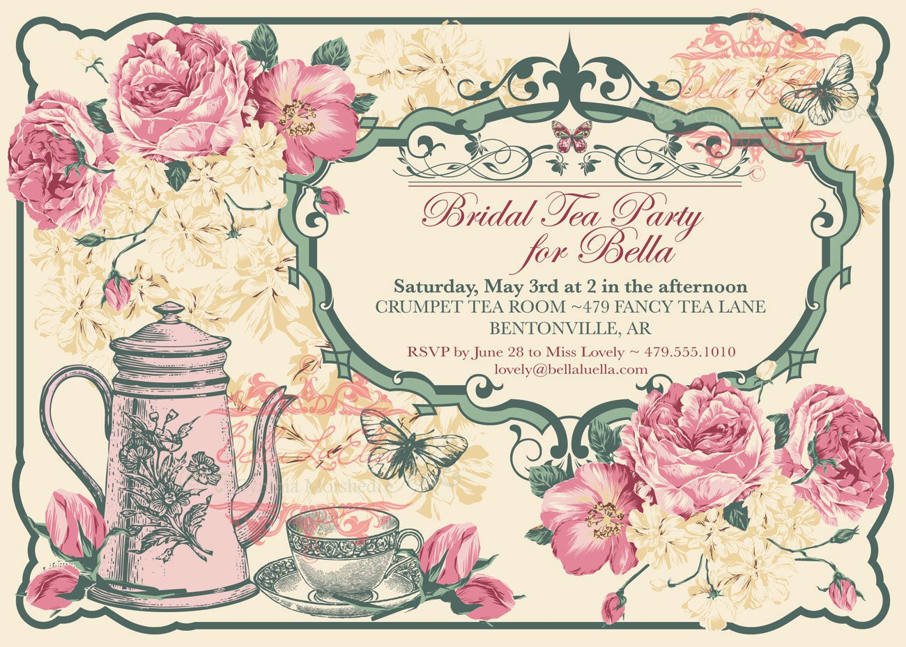 Tea Cup Party Invitation Template