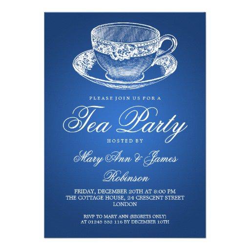 Tea Cup Party Invitations