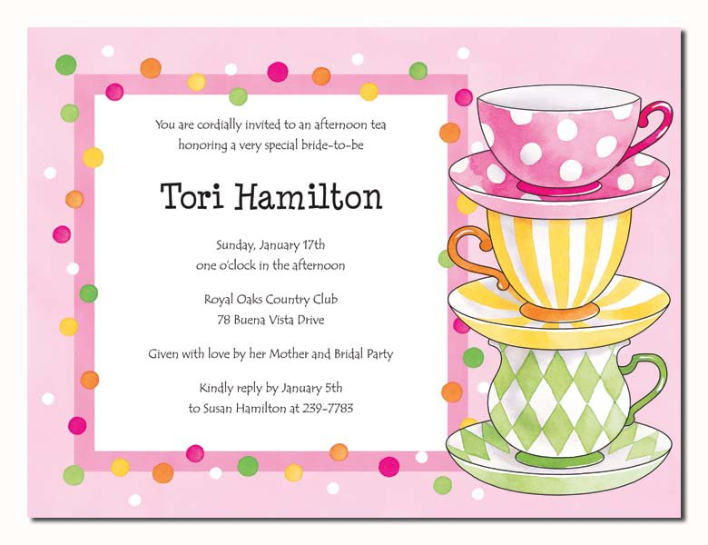Tea Party Invitation Background