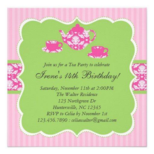 Tea Party Invitation Zazzle
