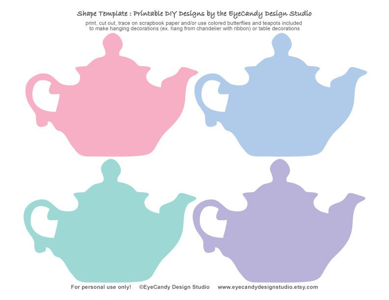 Teapot Invitation Templates