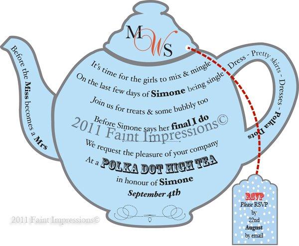 Teapot Invitation Templates Printable