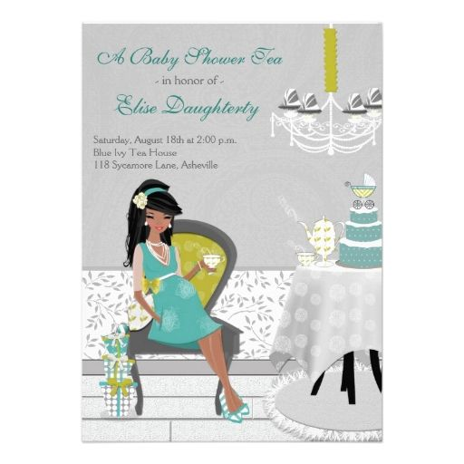 Teapot Invitations For Baby Showers