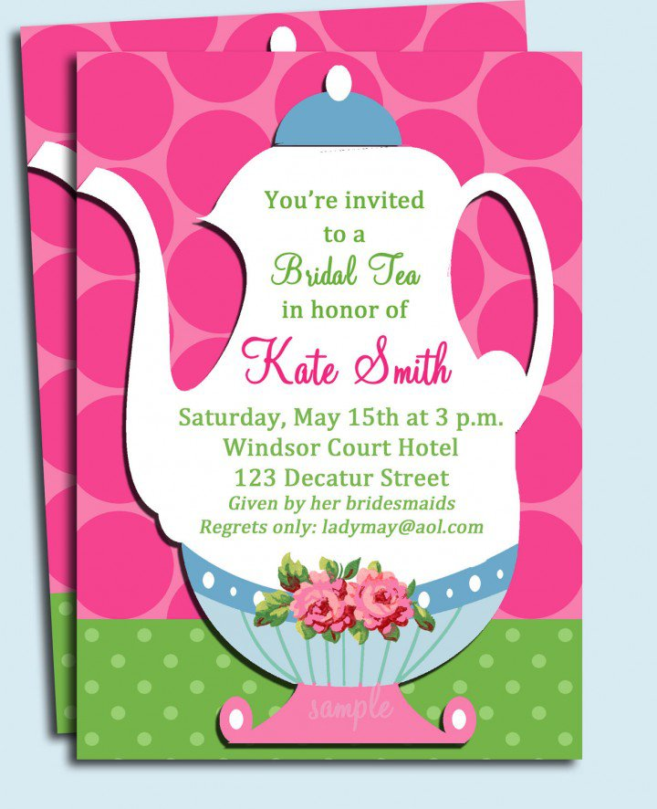 Teapot Shaped Invitations