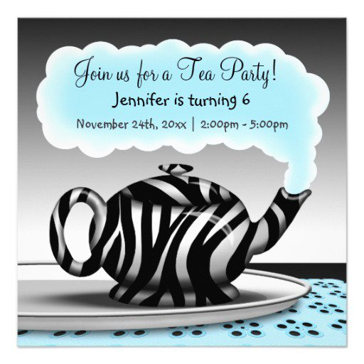 Teapot To Print Invitations