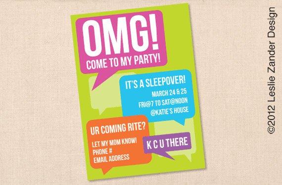 Teenage Boy Birthday Party Invitations