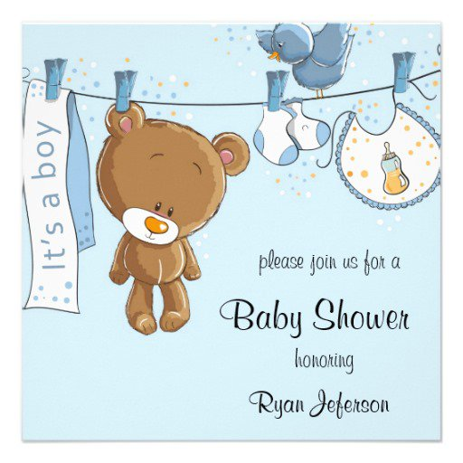Templates For Boys Baby Shower Invitations