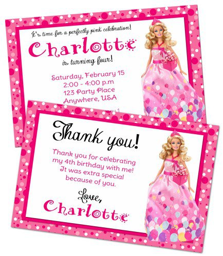 Thank You Note For Invitation To A Party