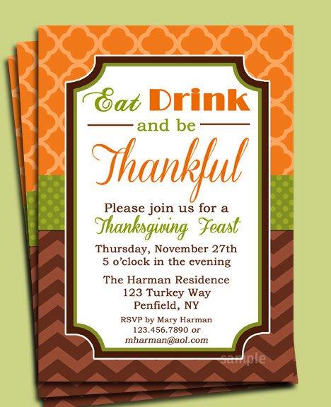 Thanksgiving Dinner Party Invitation Wording