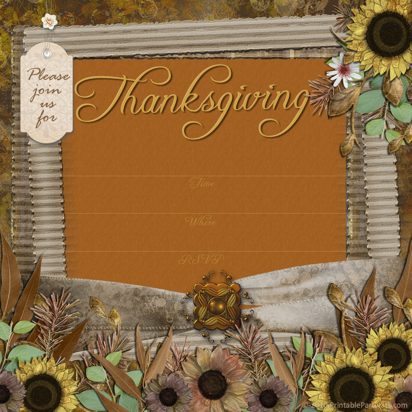 Thanksgiving Luncheon Invitation Template
