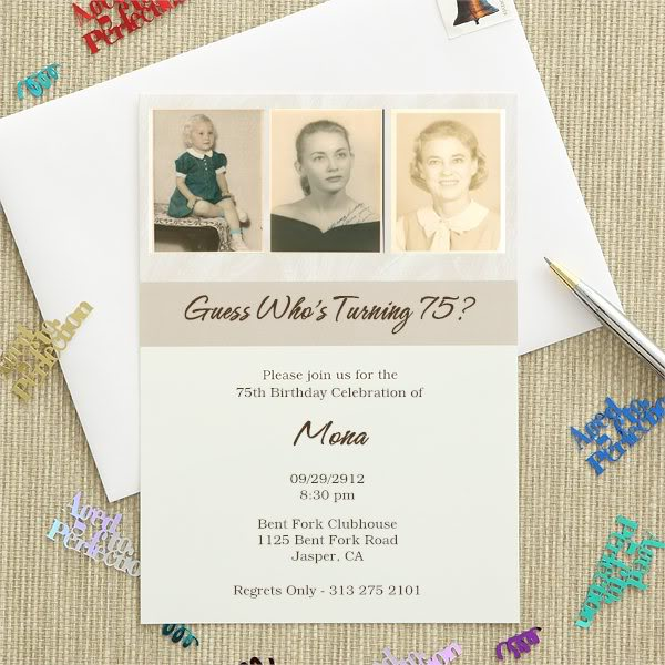 Then And Now Birthday Invitation