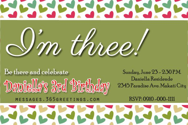Third Birthday Invitation Rhymes – Birthday Invite Rhymes