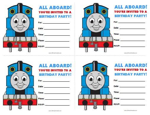 Thomas Invitations Birthday Printable