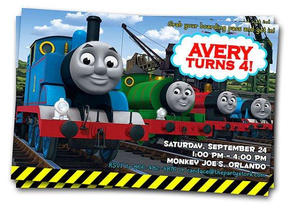 Thomas Train Birthday Invitations Printables – Thomas Train Birthday Invitations