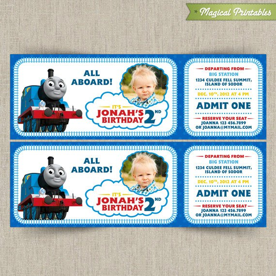 Thomas Birthday Invitation as perfect invitation layout