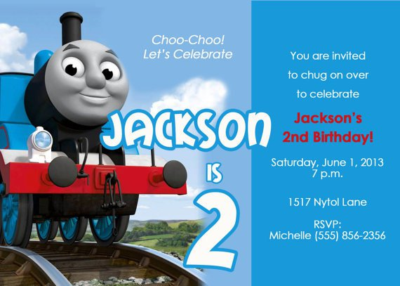Thomas The Train Invitation Template Pertaminico - Party invitation template: train party invitations templates