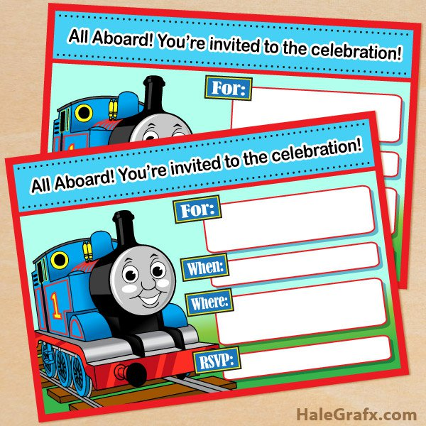 Thomas The Tank Invitations Printables