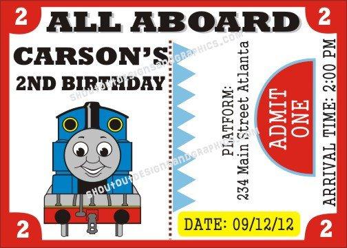 The Train Birthday Invitation Templates