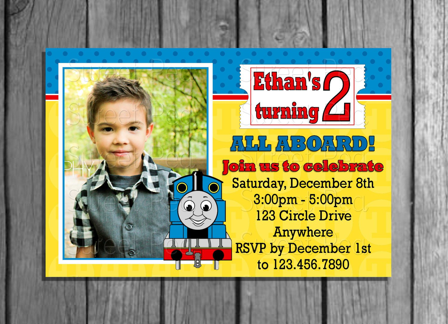 Thomas The Train Birthday Invitations – Thomas the Train Birthday Invites