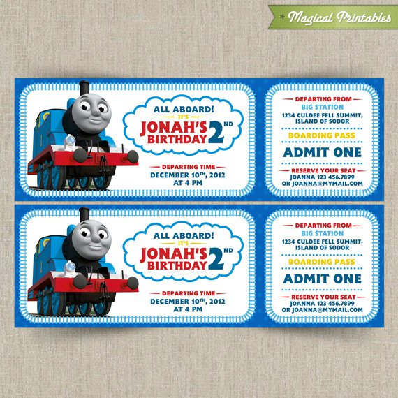 Thomas The Train Invitations Free