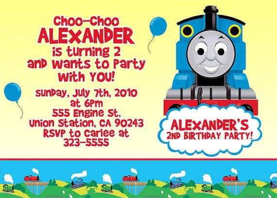 Thomas The Train Printables Invitations