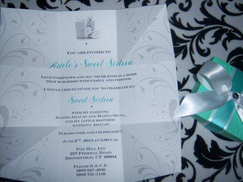 Tiffany Blue Box Wedding Invitations