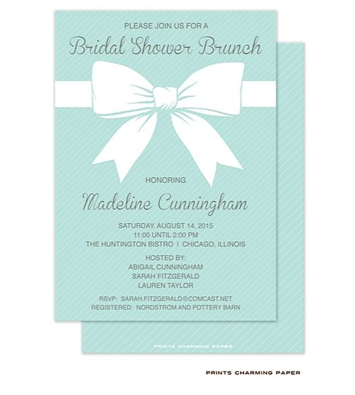 Tiffany Blue Bridal Shower Invitations