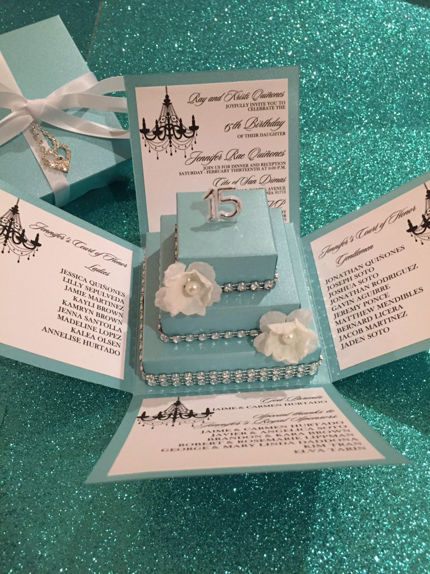 Tiffany Blue Invitations Wedding