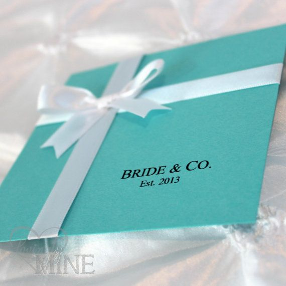 Tiffany Inspired Wedding Invitations