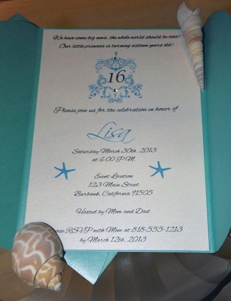 Tiffany Party Invitations