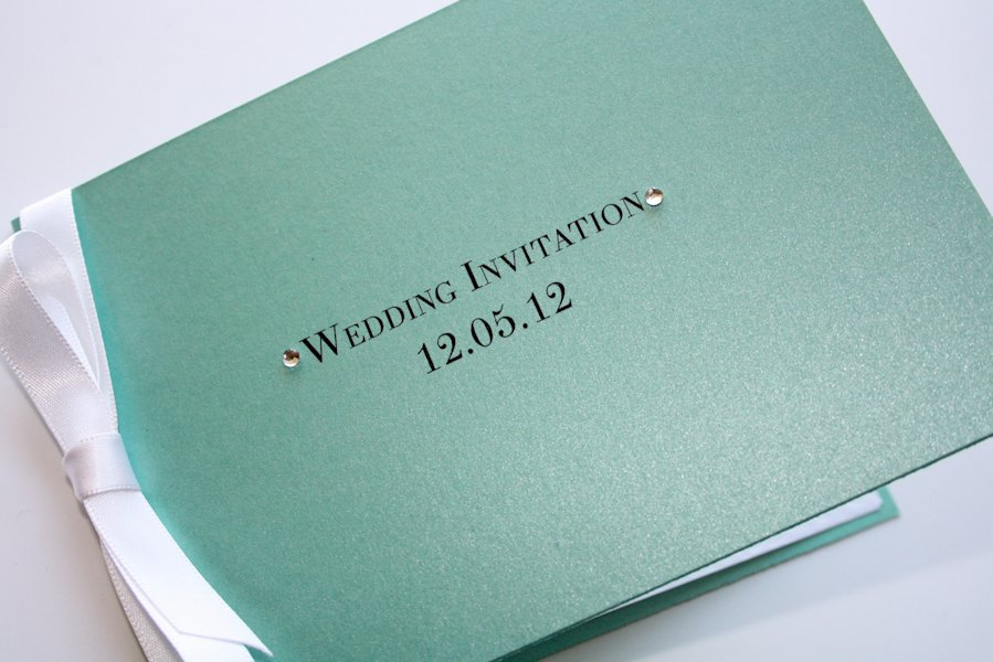 Tiffany Wedding Invitations With Ribbon
