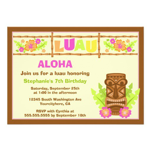 Tiki Man Invitations