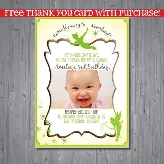 Tinkerbell Birthday Invitations Printable