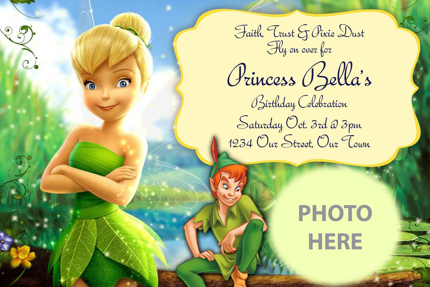 Tinkerbell Invitation For Free